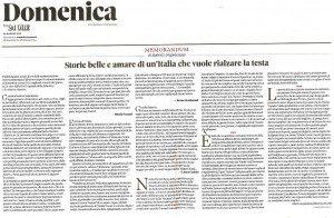 """""""Storie belle ed amare di un'Italia che vuole alzare la testa"""", l'editoriale del direttore Roberto Napoletano pubblicato su Il Sole 24 ORE il 29 maggio 2016 in cui si parla anche di Web Radio 5.9."""