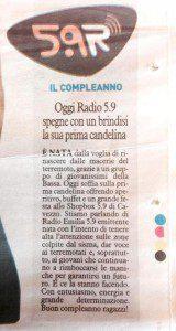Articolo pubblicato in occasione del primo compleanno di Web Radio 5.9.