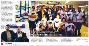 """""""Web Radio 5.9 arriva a Carpi"""" di Chiara Sorrentino (Settimanale Tempo, venerdì 17 giugno 2016)"""