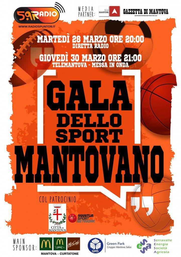 Volantino Gala dello Sport Mantovano prima edizione Web Radio 5.9 fronte