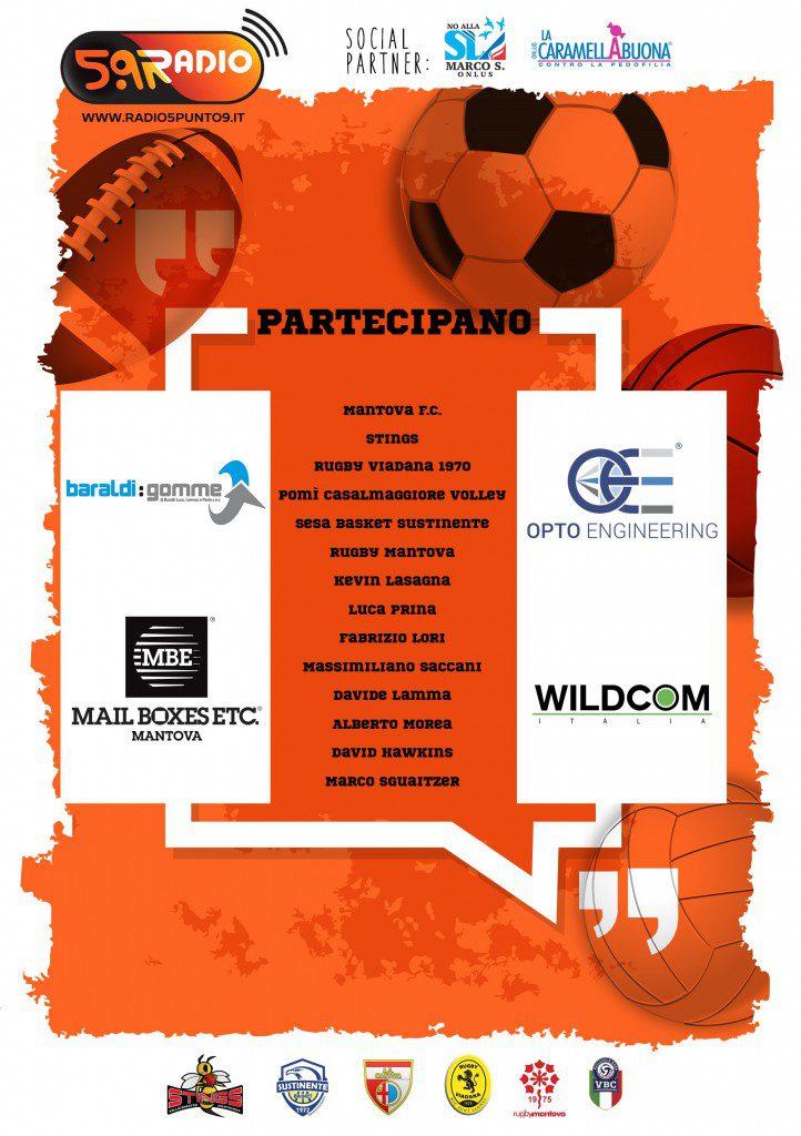 Volantino Gala dello Sport Mantovano prima edizione Web Radio 5.9 retro