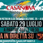 Casanova Happy Island e Web Radio 5.9 sito