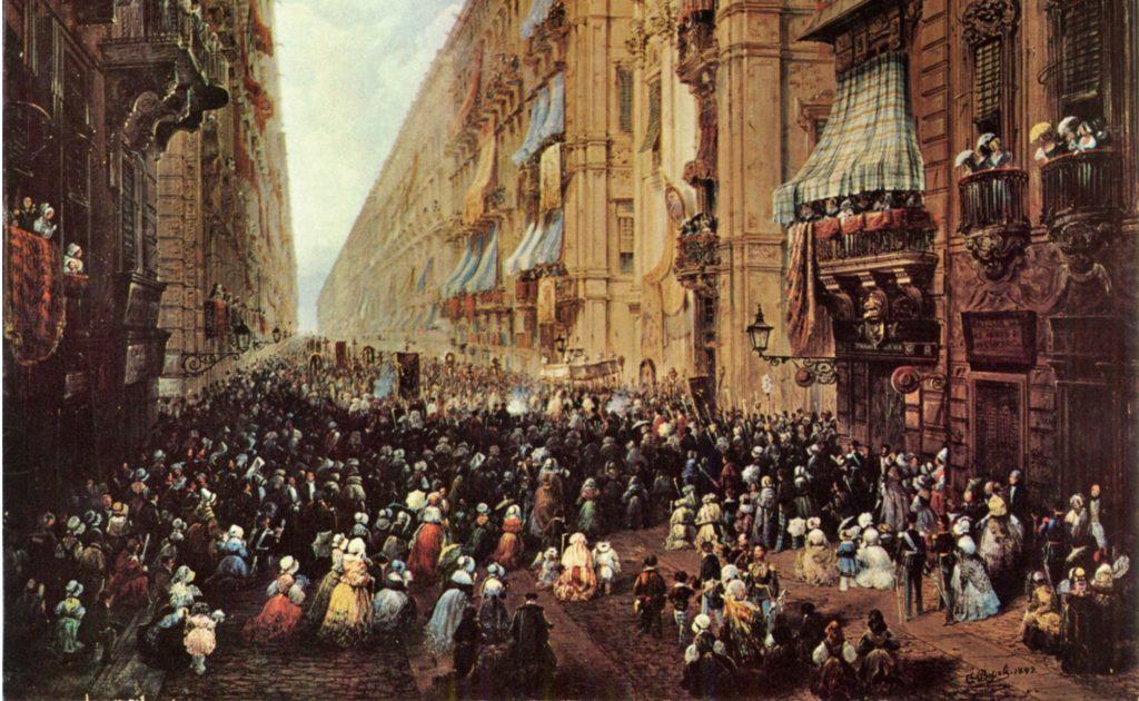Dipinto processione Corpus Domini Torino