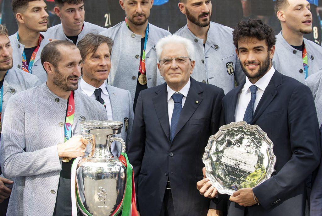 Il presidente della Repubblica riceve la nazionale italiana di calcio