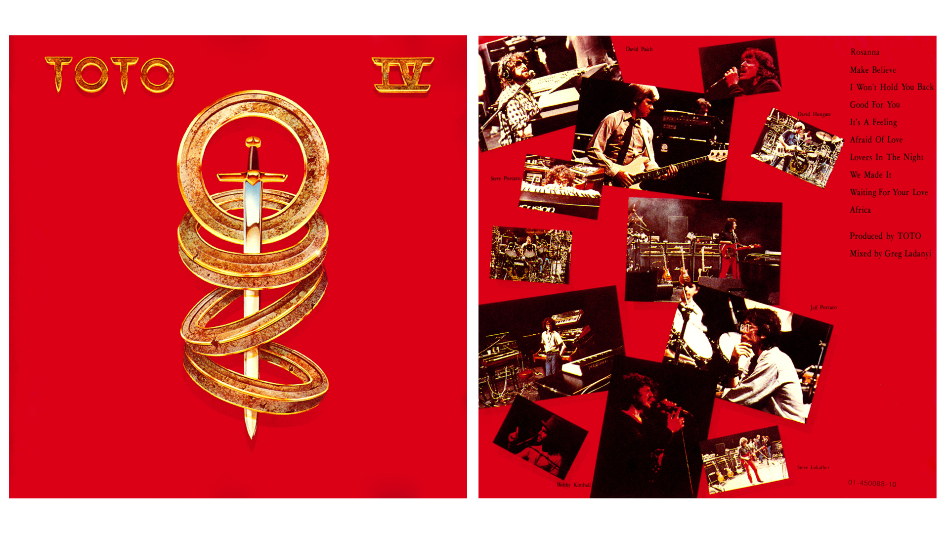 Toto IV booklet